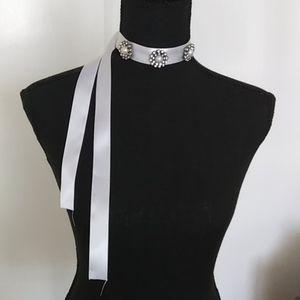 "👰💗White Bridal Choker or Headband 45"""
